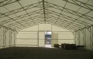 A tartószerkezetes sátor raktározási célra is kiváló!